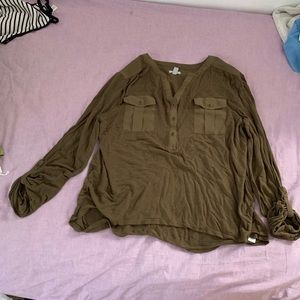 Urban Outfitters Army Green Shirt